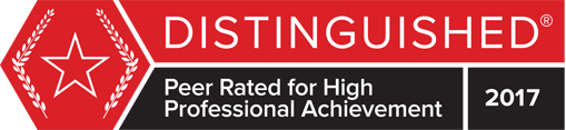 Peer Rated for High Professional Achievement logo 2017
