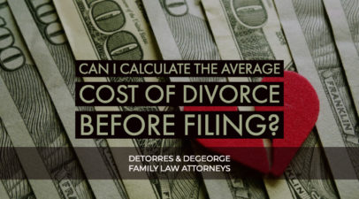 Can I Calculate the Average Cost of Divorce Before Filing?
