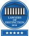 Lawyers of Distinction 2018 award badge