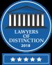 Lawyers of Distinction 2018 award badge