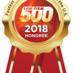 Law Firm 500, 218 Honoree award badge