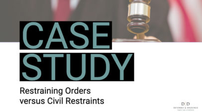 Case Study: Restraining Orders versus Civil Restraints