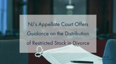 NJ's Appellate Court Offers Guidance on the Distribution of Restricted Stock in Divorce