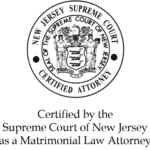 Certified by the Supreme Court of New Jersey as a Matrimonial Law Attorney seal