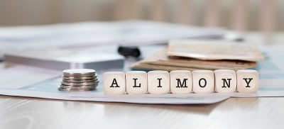 Alimony written in wooden blocks
