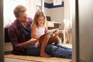 Father spending time with daughter custody and parenting time