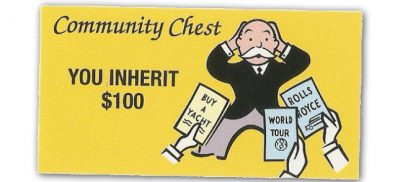 Monopoly community chest inheritance.