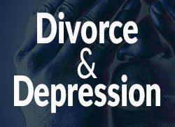 "Photo that states ""Divorce & Depression"""