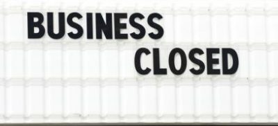 Sign that says Business Closed